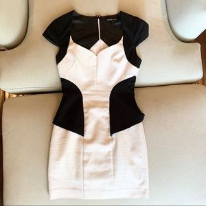 Black Halo Mini Dress in Black and White